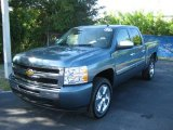 2009 Blue Granite Metallic Chevrolet Silverado 1500 LT Crew Cab #21503842