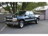 2002 Indigo Blue Metallic Chevrolet Silverado 1500 HD LS Crew Cab 4x4 #21570505