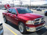 2010 Inferno Red Crystal Pearl Dodge Ram 1500 Big Horn Crew Cab #21574790