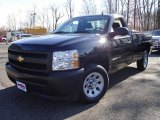 2008 Black Chevrolet Silverado 1500 Work Truck Regular Cab #21563648