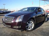 2009 Black Cherry Cadillac CTS Sedan #21499132