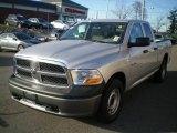 2010 Bright Silver Metallic Dodge Ram 1500 ST Quad Cab #21619853