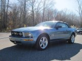 2007 Windveil Blue Metallic Ford Mustang V6 Premium Convertible #21634399
