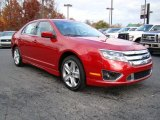 2010 Sangria Red Metallic Ford Fusion Sport #21625543