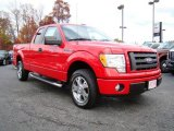 2010 Vermillion Red Ford F150 STX SuperCab #21625547