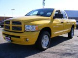 2005 Solar Yellow Dodge Ram 1500 SLT Quad Cab 4x4 #21556668