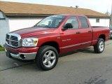 2007 Inferno Red Crystal Pearl Dodge Ram 1500 SLT Quad Cab 4x4 #21568067