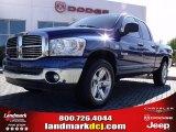 2008 Patriot Blue Pearl Dodge Ram 1500 Big Horn Edition Quad Cab #21566278