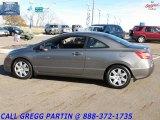 2007 Galaxy Gray Metallic Honda Civic LX Coupe #21616535