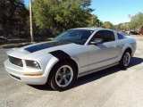 2006 Satin Silver Metallic Ford Mustang V6 Deluxe Coupe #21637200