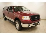 2006 Dark Toreador Red Metallic Ford F150 XLT SuperCab 4x4 #21635349
