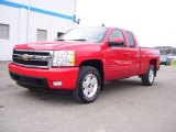 2007 Victory Red Chevrolet Silverado 1500 LTZ Extended Cab 4x4 #21694912