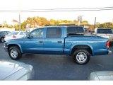 2004 Atlantic Blue Pearl Dodge Dakota SLT Quad Cab #21706171