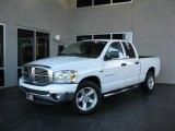 2007 Bright White Dodge Ram 1500 SLT Quad Cab #21694228