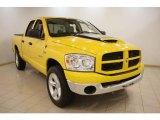 2008 Detonator Yellow Dodge Ram 1500 Big Horn Edition Quad Cab 4x4 #21635351