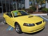 2002 Zinc Yellow Ford Mustang GT Convertible #2164373