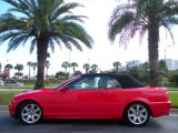 2001 Bright Red BMW 3 Series 325i Convertible #21763149