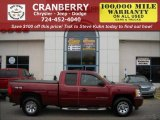 2008 Deep Ruby Metallic Chevrolet Silverado 1500 LT Extended Cab 4x4 #21768508