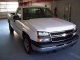 2006 Summit White Chevrolet Silverado 1500 Work Truck Regular Cab #21759081