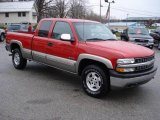 2001 Victory Red Chevrolet Silverado 1500 LS Extended Cab 4x4 #21781203