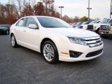 2010 White Platinum Tri-coat Metallic Ford Fusion SEL #21770413