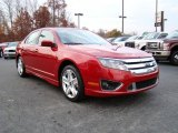 2010 Sangria Red Metallic Ford Fusion Sport #21770412