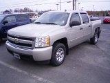 2008 Silver Birch Metallic Chevrolet Silverado 1500 LS Crew Cab #21782199