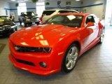 2010 Inferno Orange Metallic Chevrolet Camaro LT/RS Coupe #21873183