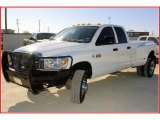 2008 Bright White Dodge Ram 3500 Big Horn Edition Quad Cab 4x4 Dually #21874665