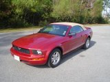 2007 Redfire Metallic Ford Mustang V6 Deluxe Convertible #21879360