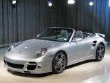 2008 Arctic Silver Metallic Porsche 911 Turbo Cabriolet #21946176