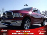 2010 Inferno Red Crystal Pearl Dodge Ram 1500 Big Horn Crew Cab #21933557