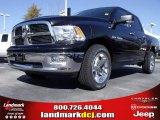 2010 Brilliant Black Crystal Pearl Dodge Ram 1500 Big Horn Crew Cab #21933559