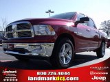 2010 Inferno Red Crystal Pearl Dodge Ram 1500 Big Horn Crew Cab #21933556