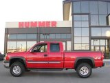 2003 Victory Red Chevrolet Silverado 2500HD LS Extended Cab 4x4 #21940909