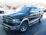 2009 Brilliant Black Crystal Pearl Dodge Ram 1500 Laramie Crew Cab #21942358