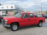 2006 Victory Red Chevrolet Silverado 1500 Work Truck Extended Cab 4x4 #22005712