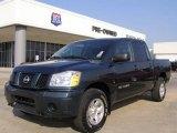 2007 Deep Water Blue/Green Nissan Titan XE Crew Cab 4x4 #21995414