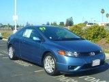 2007 Atomic Blue Metallic Honda Civic LX Coupe #22048231