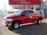2006 Flame Red Dodge Ram 1500 SLT Quad Cab 4x4 #21993848