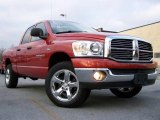 2007 Sunburst Orange Pearl Dodge Ram 1500 Big Horn Edition Quad Cab 4x4 #21990909