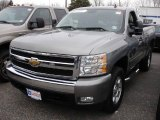 2007 Graystone Metallic Chevrolet Silverado 1500 LT Regular Cab 4x4 #22144163