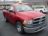 2010 Inferno Red Crystal Pearl Dodge Ram 1500 ST Regular Cab #22153746