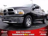 2010 Brilliant Black Crystal Pearl Dodge Ram 1500 SLT Quad Cab #22144930