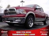 2010 Inferno Red Crystal Pearl Dodge Ram 1500 Laramie Crew Cab #22144931