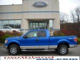 2010 Blue Flame Metallic Ford F150 XLT SuperCab 4x4 #22137939