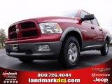 2010 Inferno Red Crystal Pearl Dodge Ram 1500 TRX Crew Cab #22144935