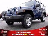 2010 Deep Water Blue Pearl Jeep Wrangler Sport 4x4 #22144910
