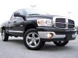 2008 Brilliant Black Crystal Pearl Dodge Ram 1500 Big Horn Edition Quad Cab 4x4 #22137250