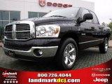 2008 Brilliant Black Crystal Pearl Dodge Ram 1500 Big Horn Edition Quad Cab #22144991